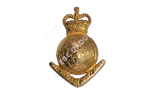World Globe Metal Badge