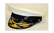 Embroidered Navy Peak Cap
