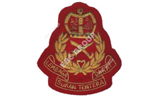 Malysian Security Force Bullion Blazer Badge