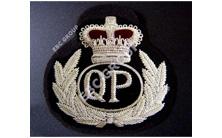 Queensland Police Silver Bullion Wire Blazer Badges