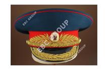Russian Embroidered Peak Cap
