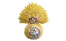 Hand Embroidered Cap Badge