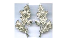 German Leaf Metal Badge