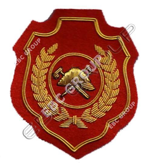 Fire Service Gold Bullion Wire Blazer Badges